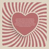 Ejemplo retro del vector del fondo del Grunge del corazón abstracto Imagen de archivo