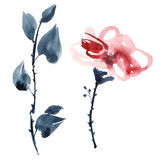 Ejemplo rojo de la flor ilustración del vector