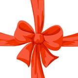 Ejemplo rojo del arco aislado Foto de archivo libre de regalías