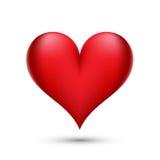 Ejemplo rojo del corazón Foto de archivo libre de regalías