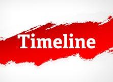 Ejemplo rojo del fondo del extracto del cepillo de la cronología stock de ilustración