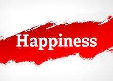 Ejemplo rojo del fondo del extracto del cepillo de la felicidad libre illustration