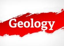 Ejemplo rojo del fondo del extracto del cepillo de la geología ilustración del vector