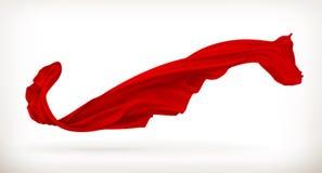 Ejemplo rojo del paño Foto de archivo libre de regalías