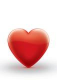 Ejemplo rojo del símbolo del corazón aislado Imagen de archivo libre de regalías