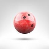 Ejemplo rojo del vector de la bola de bolos Imagen de archivo libre de regalías