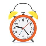 Ejemplo rojo del vector del despertador del estilo plano stock de ilustración