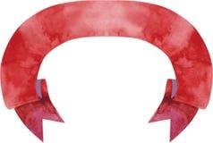 Ejemplo rojo oscuro del vector de la bandera de la acuarela Ilustración del Vector