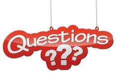 Ejemplo rojo - preguntas de etiqueta del fondo Fotos de archivo