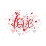 Ejemplo romántico del corazón Imagen de archivo libre de regalías