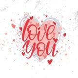 Ejemplo romántico del corazón Fotografía de archivo libre de regalías