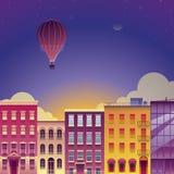 Ejemplo romántico del vector de la ciudad Imágenes de archivo libres de regalías