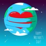 Ejemplo romántico y del amor del globo ilustración del vector