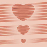 Ejemplo rosado del vector del fondo de la papiroflexia del corazón Foto de archivo libre de regalías