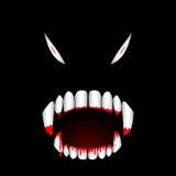 Ejemplo sangriento del vector de los dientes del monstruo ilustración del vector