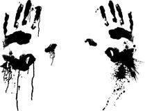 Ejemplo sangriento del vector EPS de las manos por los crafteroks ilustración del vector