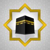 Ejemplo santo de Kaaba, diseño islámico stock de ilustración