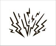 Ejemplo simple del bosquejo del relámpago en el fondo blanco ilustración del vector