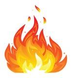 Icono aislado del fuego ilustración del vector