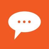 Ejemplo simple del icono de la charla Foto de archivo