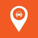 Ejemplo simple del icono del marcador de GPS del coche Foto de archivo