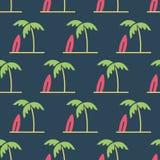 Ejemplo simple del vector con capacidad de cambiar Modelo con las palmeras ilustración del vector