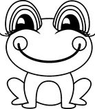 Ejemplo simple del vector de la rana o del sapo Imagenes de archivo