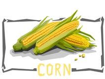 Ejemplo simple del vector del maíz stock de ilustración