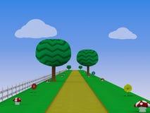 Ejemplo sin fin del fondo 3D del videojuego del corredor stock de ilustración