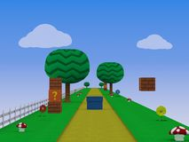 Ejemplo sin fin del fondo 3D del videojuego de la plataforma del corredor libre illustration