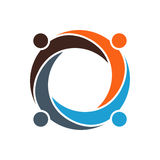 Ejemplo social conectado pozo de la red Imagen de archivo