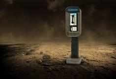 Ejemplo solitario del teléfono de pago del desierto foto de archivo