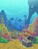 Ejemplo subacuático del vector de la historieta libre illustration