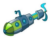 Ejemplo submarino del vector de la historieta Foto de archivo libre de regalías