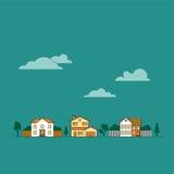 Ejemplo suburbano del vector de la vecindad libre illustration