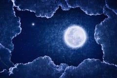 Ejemplo sucio de la Luna Llena Foto de archivo