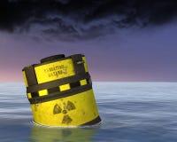 Ejemplo tóxico del material radioactivo de la basura nuclear fotos de archivo
