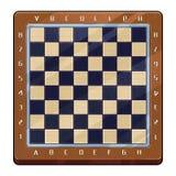 Ejemplo: Tablero de ajedrez internacional con las marcas Fotos de archivo libres de regalías