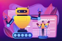 Ejemplo teledirigido del vector del concepto de los robots