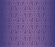 Ejemplo texturizado flor punteado ULTRAVIOLETA del vector del papel pintado