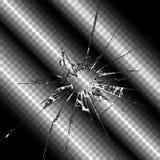 Ejemplo transparente de cristal roto realista Fotos de archivo