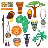 Ejemplo tribal y antiguo de la selva de África del safari del vector stock de ilustración