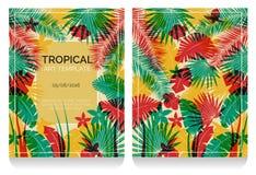 Ejemplo tropical de la selva del efecto de la impresión de la compensación Libre Illustration