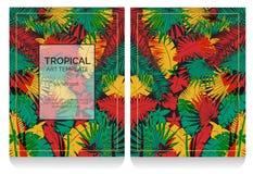 Ejemplo tropical de la selva del efecto de la impresión de la compensación Stock de ilustración