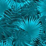 Ejemplo tropical del vector del bosque modelo inconsútil tropical exótico hojas hermosas, plantas Verano, viajando, diseño de las ilustración del vector