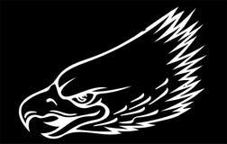 Ejemplo una mascota de Eagle Head en el fondo negro fotos de archivo