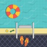 Ejemplo - una piscina, una visión superior Imagen de archivo libre de regalías