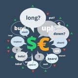 Ejemplo uno de las divisas del sistema Imagen de archivo libre de regalías