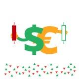 Ejemplo uno de las divisas del sistema stock de ilustración