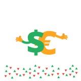 Ejemplo uno de las divisas del sistema Imágenes de archivo libres de regalías